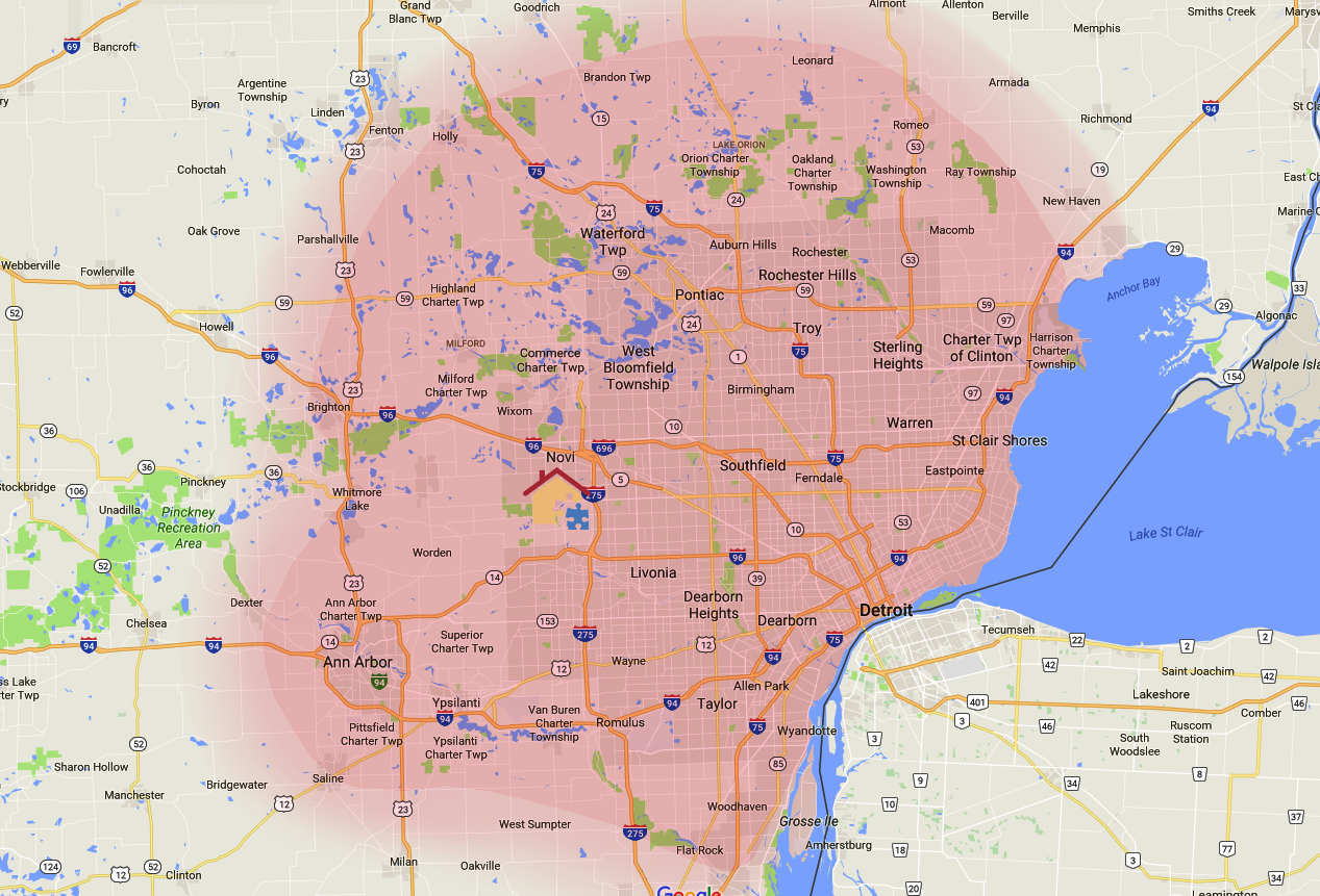 ABA therapy Ann Arbor map