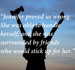 8.11.16 Jennifer bully story