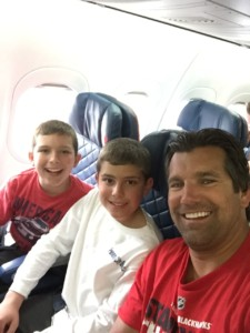 The Perisin boys on Josh's first flight to Florida!