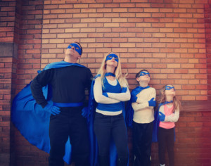 blue-superhero-family