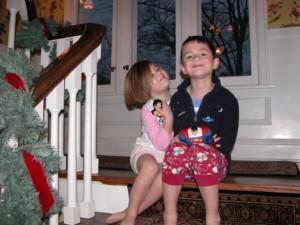Drew & his sister, 2005
