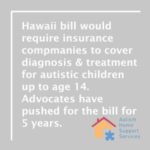 Hawaii Legislature Advances Autism Bill Ahead of Deadline